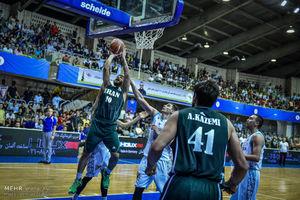 عکس/ پیروزی تیم ملی بسکتبال مقابل قزاقستان