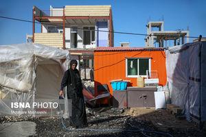 عکس/ رنج مردم سرپلذهاب در گرمای شدید