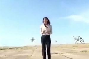 فیلم/ پلاتوی شجاعانه خبرنگار زن