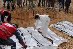 فیلم/ اجساد مهاجران مفقود در سواحل لیبی