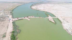 جبران کمبود آب شرب آبادان و خرمشهر/ پایان کار احداث بند خاکی در رود کارون