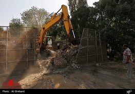 روشنگری دادستانی از تخریب چند ویلا در بستر رودخانه جاجرود