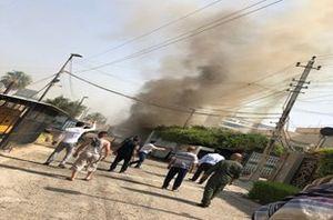 آتش سوزی سفارت افغانستان در بغداد +عکس
