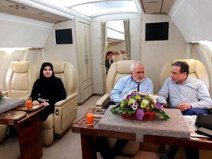 عکس/ زنی که ظریف را در سفر به وین همراهی میکند