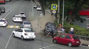 عکس/ یک کشته بر اثر ورود خودرو به پیادهرو