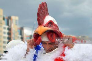 هواداران فرانسوی با ماسک خروس!