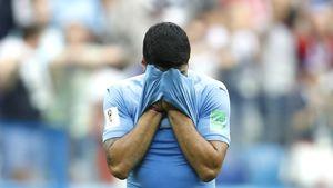 عکس/ حسرت سوارز پس از حذف اروگوئه