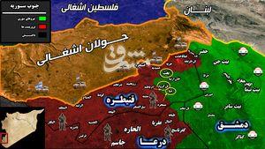 حمله سنگین جبهه النصره به استان قنیطره با پشتیبانی نظامی اسرائیل + نقشه میدانی
