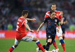 عکس/ بهترین بازیکن دیدار کرواسی برابر روسیه