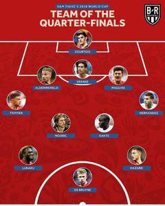 عکس/ تیم منتخب مرحله یک چهارم نهایی جام جهانی