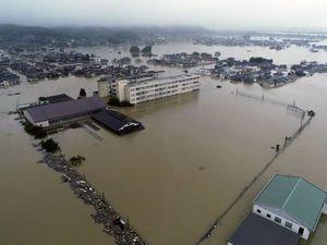 تصاویر هوایی از خسارت سیل در ژاپن
