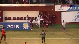 فیلم/ زد و خورد شدید بازیکنان در لیگ دو برزیل
