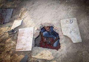 سکونت ۱۰۰۰ گورخواب سیستانی در خانه اموات +عکس