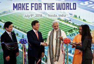 عکس/ افتتاح بزرگترین کارخانه تولید گوشی هوشمند دنیا