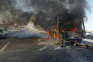 جمع آوری کامل آثار حادثه تصادف دلخراش در سنندج