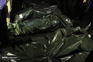 اجساد سرنشینان حادثه اتوبوس سنندج