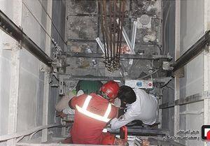 آسانسور پاساژ علاءالدین حادثه آفرید