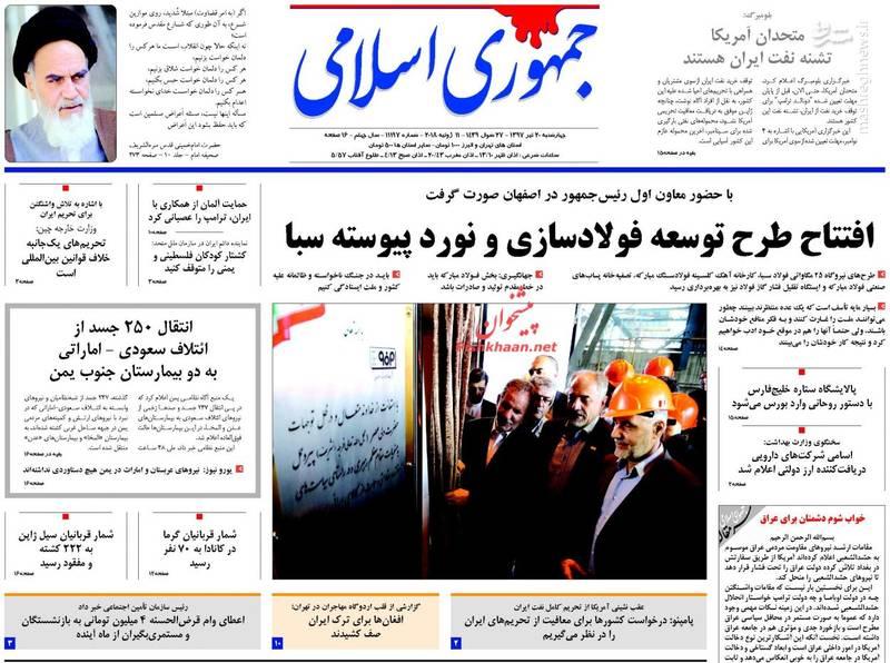 جمهوری اسلامی: افتتاح طرح توسعه فولادسازی و نورد پیوسته سبا