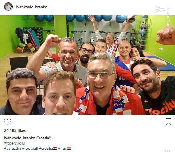 عکس/ پست اینستاگرامی برانکو پس از صعود کرواسی به فینال جام جهانی