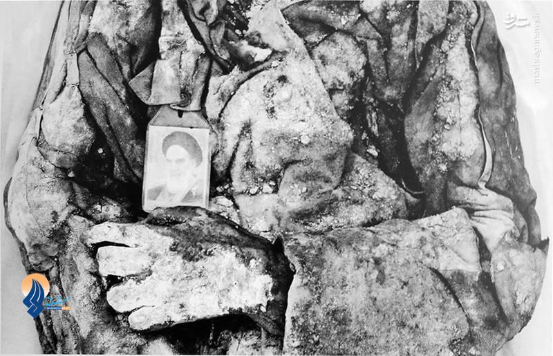 پیکر شهید تفحص شده در «طلائیه»