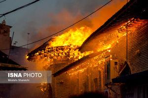 عکس/ آتشسوزی در قدیمیترین مسجد مازندران