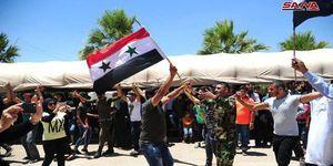 """عکس/ پایکوبی مردم """"درعا"""" پس از آزادی"""