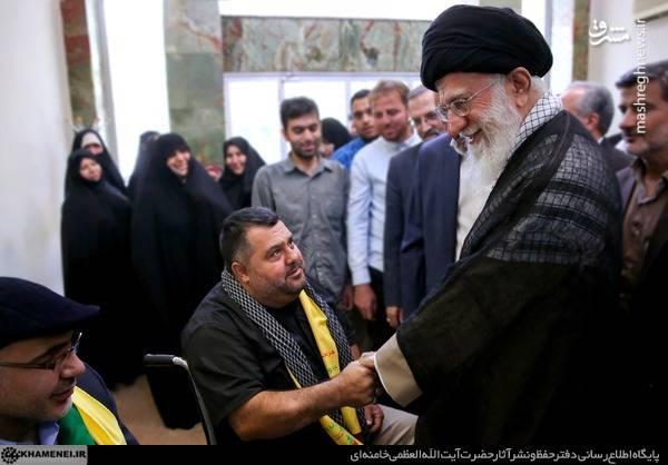 عکس/ دیدار جانبازان حزبالله لبنان با رهبر انقلاب