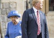 بیاحترامی ترامپ به ملکه انگلیس +عکس و فیلم