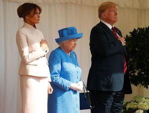 ترامپ و ملکه انگلیس