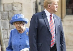 تفاوت رفتار اوباما و ترامپ با ملکه انگلیس +عکس