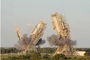 فیلم/ تخریب سکوهای پرتاب ناسا