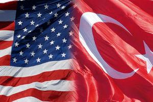 پرچم نمایه ترکیه و آمریکا