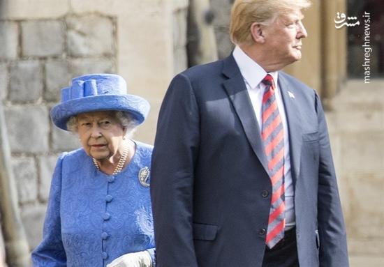 فیلم/ لو رفتن مکالمه خصوصی ترامپ و ملکه الیزابت!