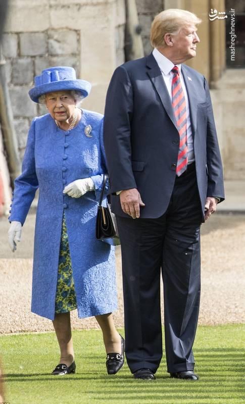 بی احترامی ترامپ به ملکه انگلیس +عکس و فیلم