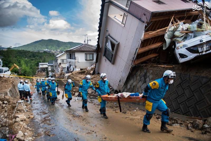 مرگ و زخمیشدن دهها نفر در ژاپن بر اثر سیل