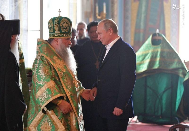 حضور پوتین در مراسم صومعه والعام