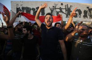 عکس/ صدای اعتراض مردم بغداد هم درآمد