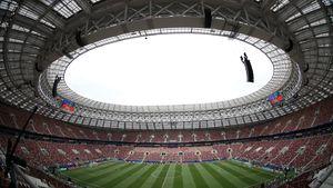 عکس/ حال و هوای ورزشگاه فینال پیش از بازی