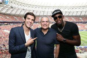 عکس/ کاکا و اوسین بولت در ورزشگاه لوژنیکی