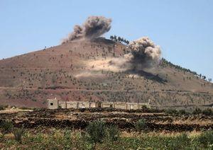 عکس/ حمله ارتش سوریه به لانه تروریستها