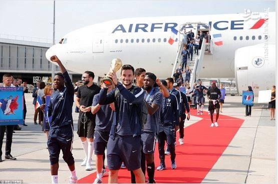 استقبال گسترده از  تیم ملی فرانسه