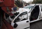 تصادف خونین تیبا با کامیون در بزرگراه آزادگان +عکس