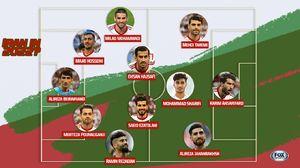 ترکیب احتمالی ایران در جام جهانی 2022 +عکس
