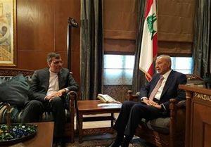 دیدار جابری انصاری با رئیس مجلس لبنان