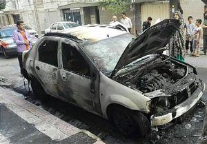 آتش گرفتن ناگهانی خودروی L۹۰ +عکس