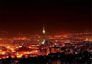 ساختمانهای پرنور در شبهای کم برق تهران