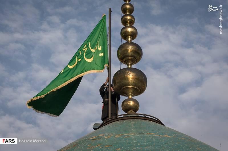 آئین تعویض پرچم گنبد امامزاده صالح(ع)