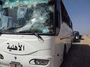 آخرین گروه اتوبوسهای ساکنان الفوعه و کفریا به حومه حلب رسید