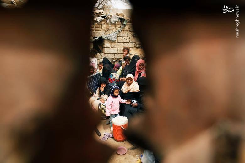 عکس/ زندگی سخت جنگزدگان یمنی