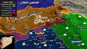 نیروهای ارتش سوریه و مقاومت پس از ۷ سال به مرزهای جولان اشغالی رسیدند + نقشه میدانی و تصاویر